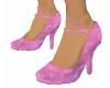 Pink Velvety Pumps