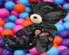 Black Camo Cuddle  Bear