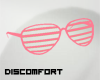 *D lined glasses PINK