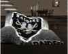 Oakland Raiders bean bag
