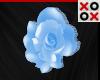 Blue Rose Hair Clip - R