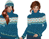 TF* Nortic Teal Sweater