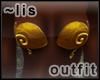 Elven bikini: gold II