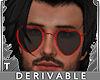T Heart Sunglasses Male