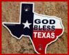 GOD BLESS TEXAS FLAG