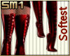SM1 Laced PVC soft red