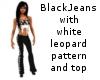 Black jeans white leo