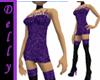 ~D~purple short dress