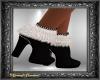 Black & White Fur Boots