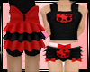 kids red kittie ruffle