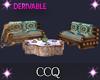 [C]Log Sofa+Table Set