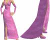 Pink Velvet Long Gown