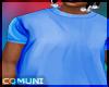 Blue T-shirt..