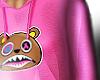 F. Pink Baws Crop Hoodie