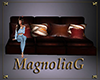 ~MG~ LeatherWood Lg Sofa