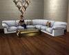 JD 6p White/Gold Sofa