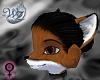 Rich Red Fox Muzzle Head
