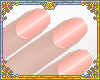 short nails / peach