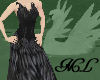 Black Swan Feather Dress
