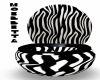 Zebra & Black Toilet
