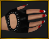 Black Gloves/Red Nails