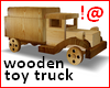 !@ Wooden toy truck