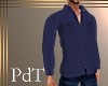 PdT Navy Fleece Shirt M