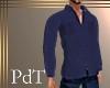 PdT Navy Fleece Shirt M