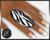 !E Dainty ring zebra