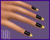 HH Black & Gold Nails
