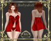 Babydoll Cetim Red