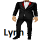 Black Tux w/Red Bow