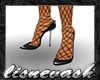 (L) Black Heels & Stckng