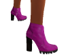 purple leather boot