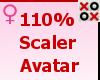 110% Scaler Avatar - F