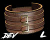 !D L Leather Cuff Brown