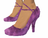 Purple Velvety Pumps