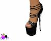 strappy stilettos black