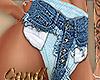 Shorts w Panty Blue