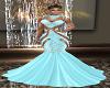 Crystal Med Gown Blue