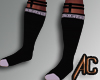 (A) Greek Socks White