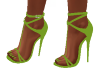 Reina Lime Green Heels