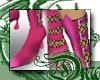 d Pink Fishnet Boots