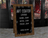 Art Center lesson sign