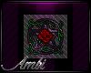 Red Rose Pentacle Badge