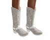 Lace wed cowgirl boots