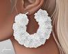 f. white fur hoops