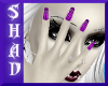 {SP}Pink Stripe Nails