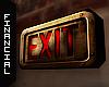 ϟ Retro Exit Sign