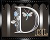 silver letter D